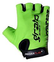 Велоперчатки PowerPlay S Зеленые (5029_S_Green)
