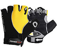 Велоперчатки PowerPlay 5019 B XS Черно-желтые (5019B_XS_Yellow)