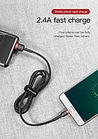 Кабель быстрой зарядки Baseus Micro USB 2.4A Black/Red, длина - 100 см. (CAMKLF-E91), фото 7