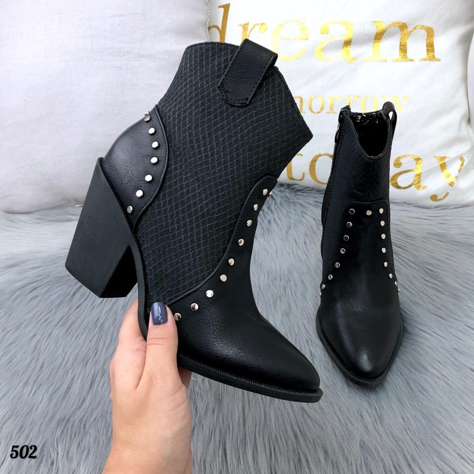 Ботинки женские KOZAK черные Деми 502