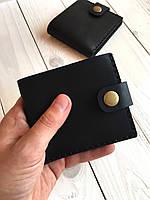 Компактний шкіряний гаманець для грошей Goose™ G0039 чорний, ручної роботи