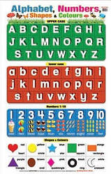 Education Charts Alphabet, Numbers, Shapes and Colours