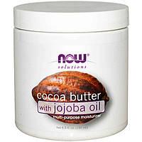 Масло какао с маслом жожоба Now Foods 192 мл