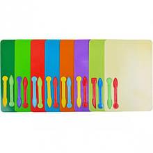 Пластикова дошка для пластиліну з ножем (стеком).