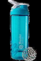 Спортивная бутылка-шейкер BlenderBottle SportMixer Sleek Promo 820 ml Aqua