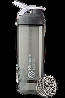 Спортивная бутылка-шейкер BlenderBottle SportMixer Sleek Promo 820 ml Grey