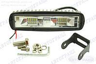 Фара светодиодная дальнего света (20 led, дополнительная с крепежом, прямоугольная)