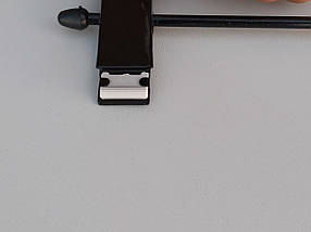 Плечики вешалки тремпеля для брюк и юбок металлические глянцевые, длина 36,5 см, фото 3