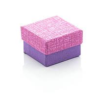 Подарочная коробочка под бижутерию нежных пастельных цветов 4 х 4 х 2.5 см Фиолетовая