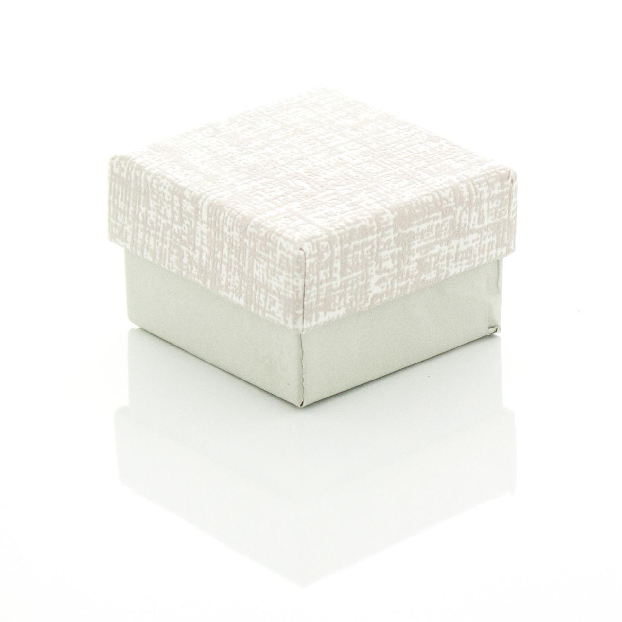 Подарочная коробочка под бижутерию нежных пастельных цветов 4 х 4 х 2.5 см Молочная