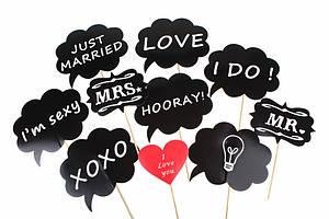 Фотобутафория для веселых фотосессий Свадьба 10 предметов