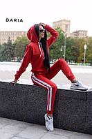 Костюм женский спортивный свитшот с капюшоном и штаны с лампасами Dch1726, фото 1