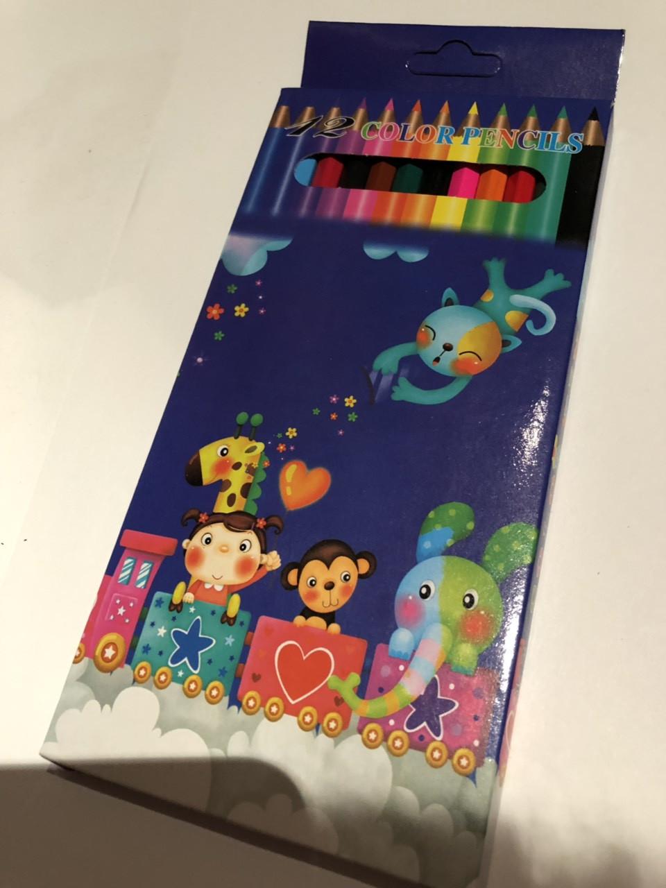 Набор цветных карандашей Colour pencils 7-12, 12 шт Синий