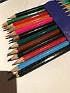 Набор цветных карандашей Colour pencils 7-12, 12 шт Синий, фото 2