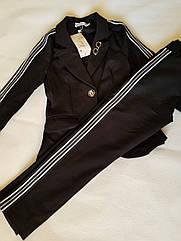 Модный школьный комплект Эвелина на девочку подростка брюки + жакет Размеры 140- 158