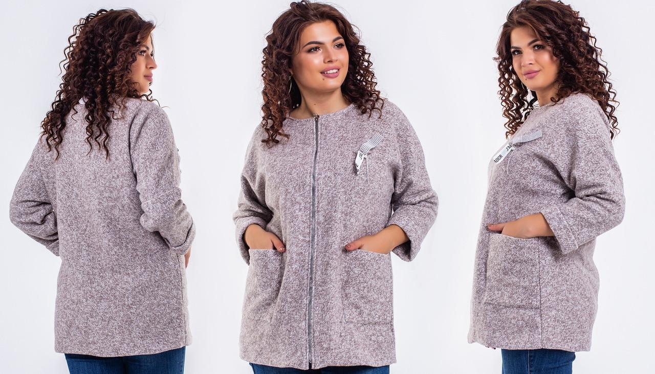 Женское пальто букле оат4019