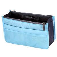 Органайзер для сумки голубой