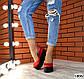Женские красные туфли на черной платформе натуральная кожа, фото 6