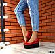 Женские красные туфли на черной платформе натуральная кожа, фото 7