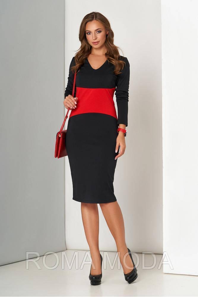Платье женское классическое в 2х цветах А-176 размеры 44-54