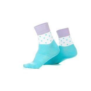 Шкарпетки ONRIDE FOOT колір блакитний. білий