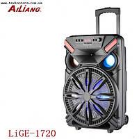 Большая колонка UF-1720 активная аккумуляторная акустика