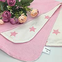 """Багаторазова непромокаюча пеленка """"Зірочки"""" в рожевому кольорі 50х65 см"""