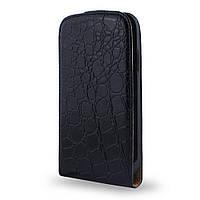 Кожаный чехол флип для Lenovo A760 (K29) черный