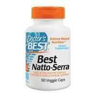 Наттокиназа и серрапептаза Doctor's Best 2000 мг 90 капсул