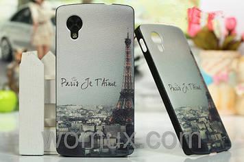 Оригинальный чехол накладка бампер задняя панель кожаная фактура ART с рисунком для телефона NEXUS 5 LG D821