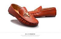 Кожаные мужские мокасины бизнес  3 цвета , фото 1