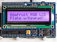 RGB LCD екран 16x2 з клавіатурою для Raspberry Pi від Adafruit, фото 1