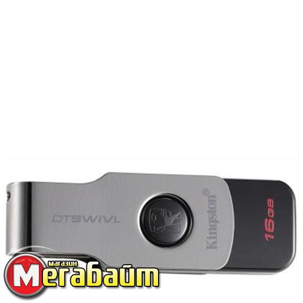 Flash Drive USB3.1 16GB Kingston DataTraveler Swivl Black (DTSWIVL/16GB)