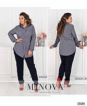 Модный женский костюм -двойка-брюки и рубашка  батал с 52 по 58 размер, фото 3