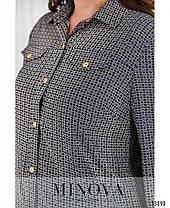 Модный женский костюм -двойка-брюки и рубашка  батал с 52 по 58 размер, фото 2