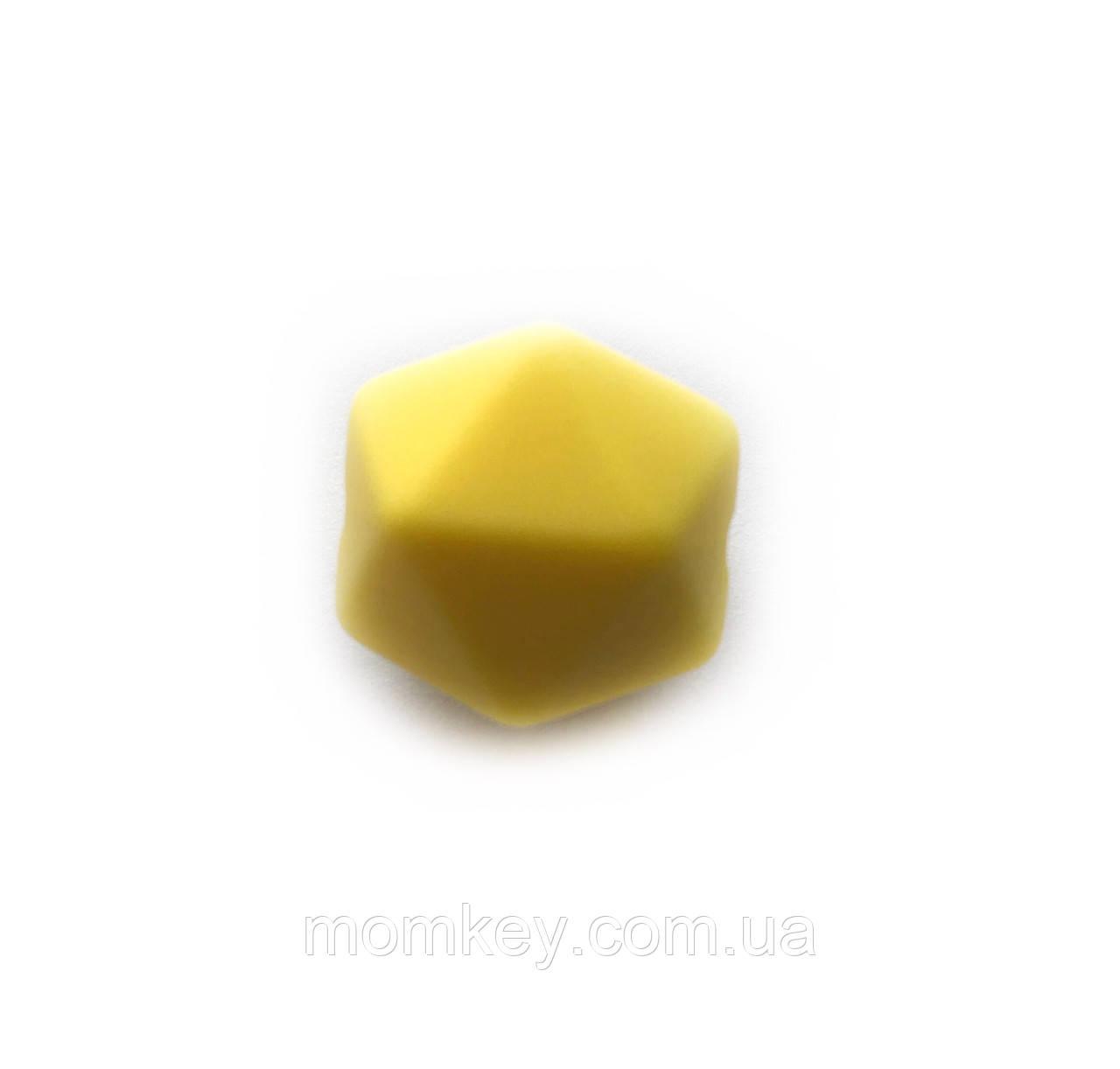 Ікосаедр 17 мм (закруглені кути)(жовтий)