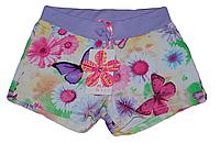 Детские шорты Венгрия для девочки цветные (фиолетовые с бабочками)