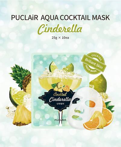 Маска аква-коктейль для сяйва шкіри обличчя Puclair Cinderella Cocktail Cooling & Soothing Face Mask, 25 г, фото 2