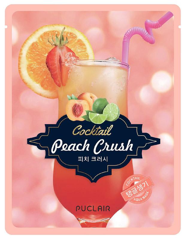 Зміцнююча маска аква-коктейль Puclair Peach Crush Cocktail Brightening and Strengthening Face Mask, 25 г