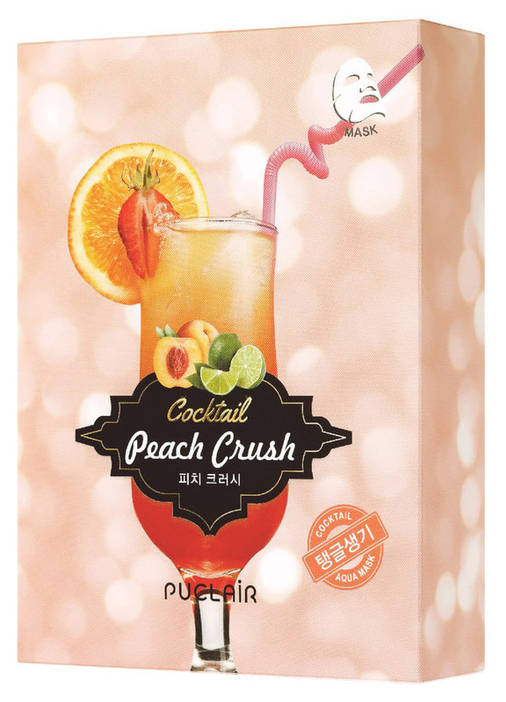Зміцнююча маска аква-коктейль Puclair Peach Crush Cocktail Brightening and Strengthening Face Mask, 25 г, фото 2