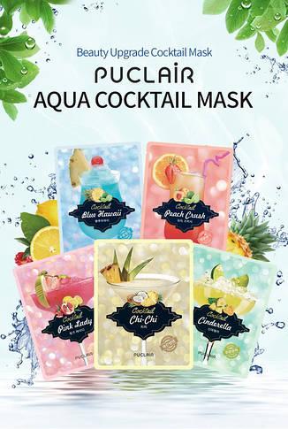 Зміцнююча маска аква-коктейль Puclair Peach Crush Cocktail Brightening and Strengthening Face Mask, 25 г, фото 3