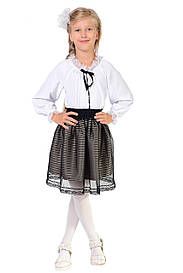 Школьная блузка с длинным рукавом для девочки 5036-2