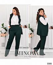 Эффектный женский костюм-тройка в деловом  стиле  больших  размеров с 50 по 56, фото 3