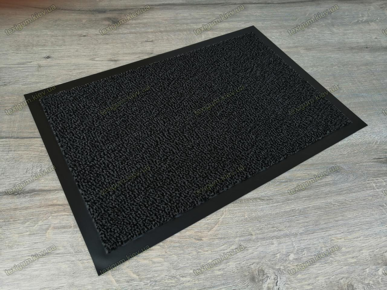 Грязезащитный ковер Париж темно-серый 60х90см