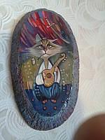 Картина маслом Кот бандурист