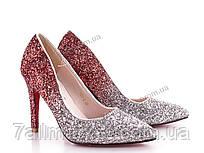 """Туфли женские стильные Лето 150-2 silver (6 пар р.36-41) """"SALE"""" недорого оптом от прямого поставщика"""