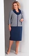 Платье Novella Sharm-3341 белорусский трикотаж, синие тона, 62