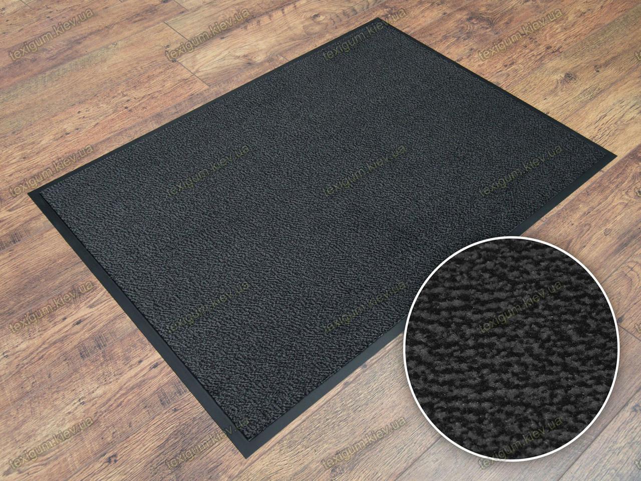 Грязезащитный ковер Париж темно-серый 90х120см