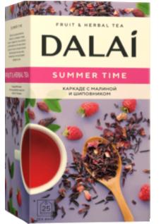 """Чайный напиток пакетрованный каркаде с шиповником  """"Summer time"""", ТМ """"Dalai"""" 25 шт.х 2г."""
