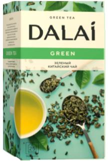 "Чай зеленый пакетированный ""Green"", ТМ ""Dalai"" 25 шт.х 1.8г., фото 2"